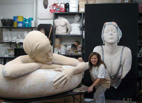 Carole A. Feuermann in her studio