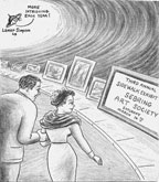 A cartoon for one of the first Sebring Art shows