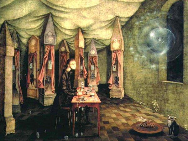 """""""El Relojero"""", canvas (71 x 84cm.), 1955"""