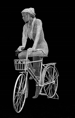 Lady and the Bicycle - Derek Kinzett