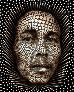 Bob Marley - Circlism by Ben Heine